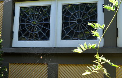 Winchester Mystery House Spider Web windows