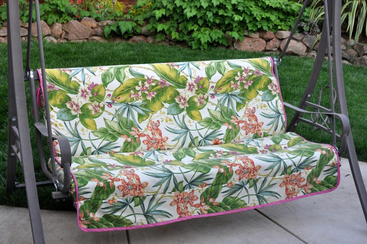 Re-covered Garden Swing