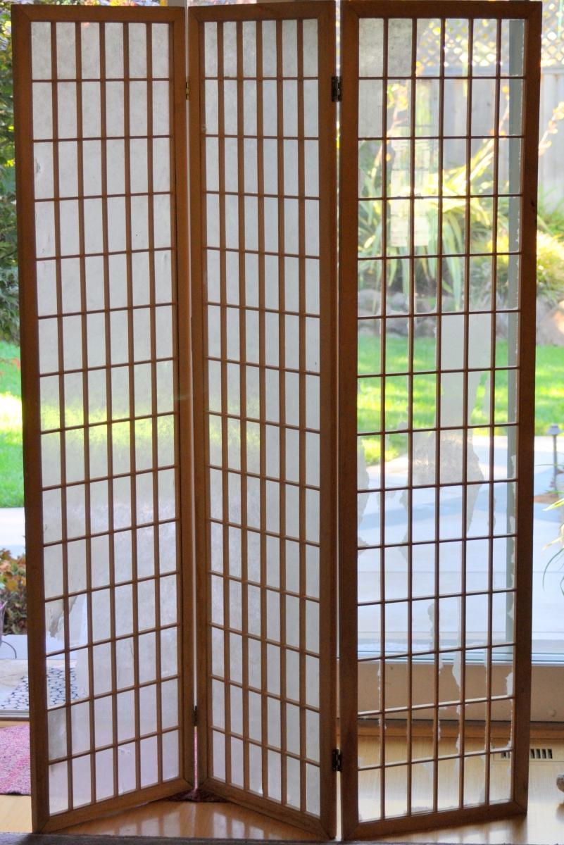 Damaged Shoji Screen