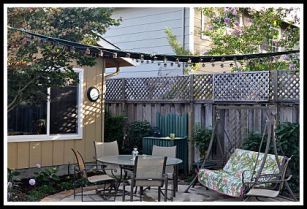 Shade Sail Back Yard