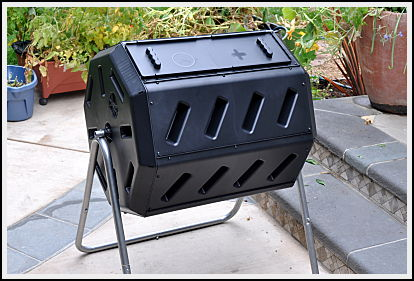assembled tumbling composter