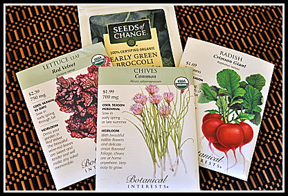 winter seed packets