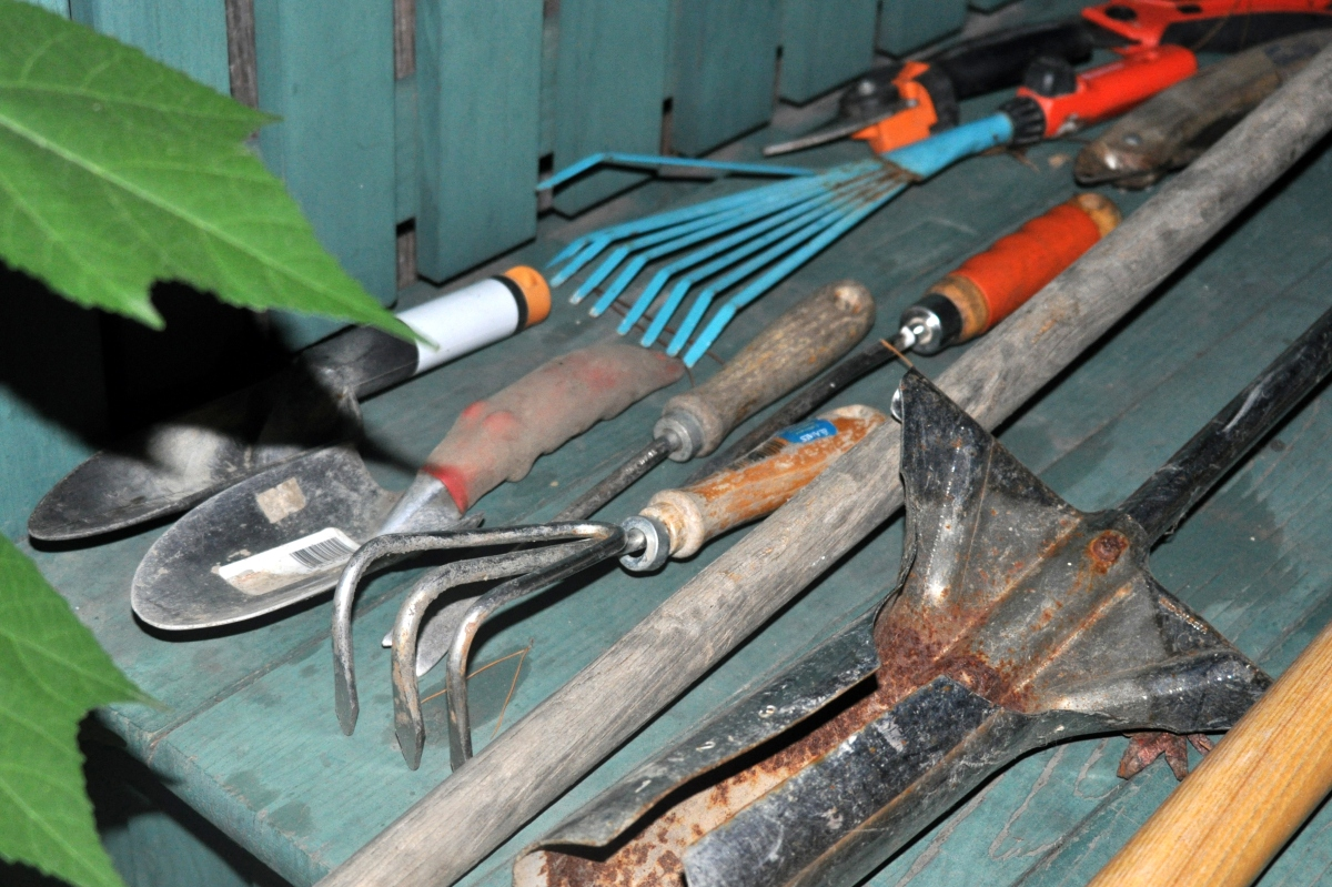 garden tools in need of some TLC