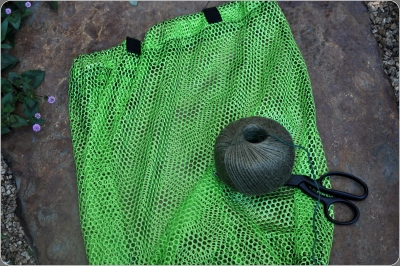 Mesh Grocery Bag and twine