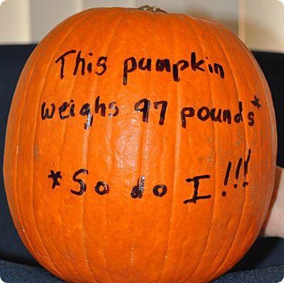 Lying pumpkin