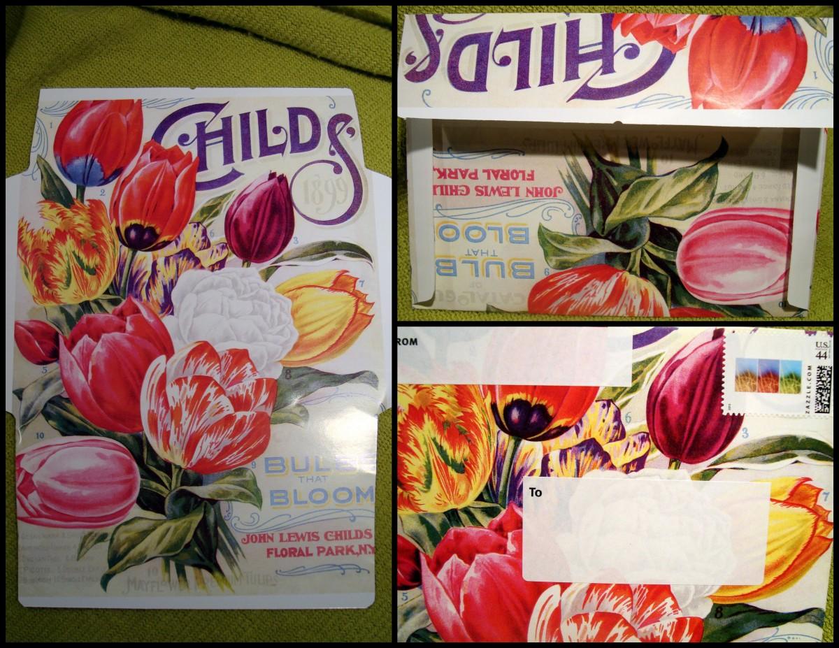 Calendar to envelope collage