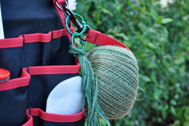 strap holds garden twine