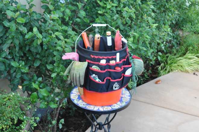 """Bucket Jockey ®"" for garden tools"