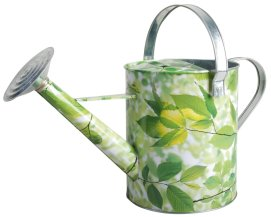 green leaf watering can