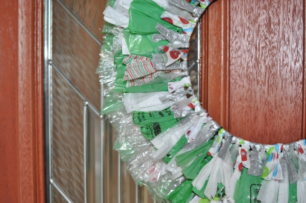 Recycled Wreath Closeup