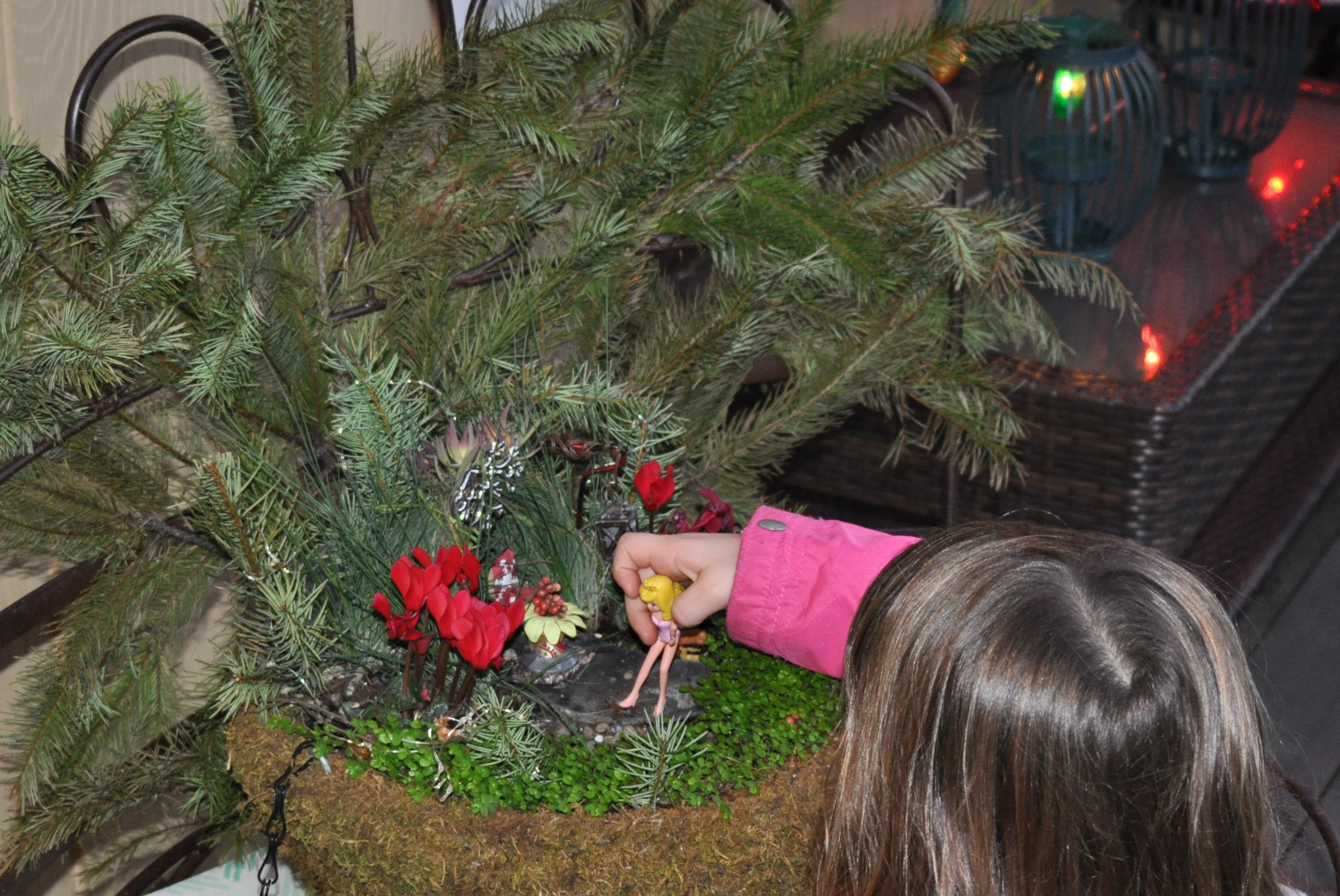 Playing in the fairy garden