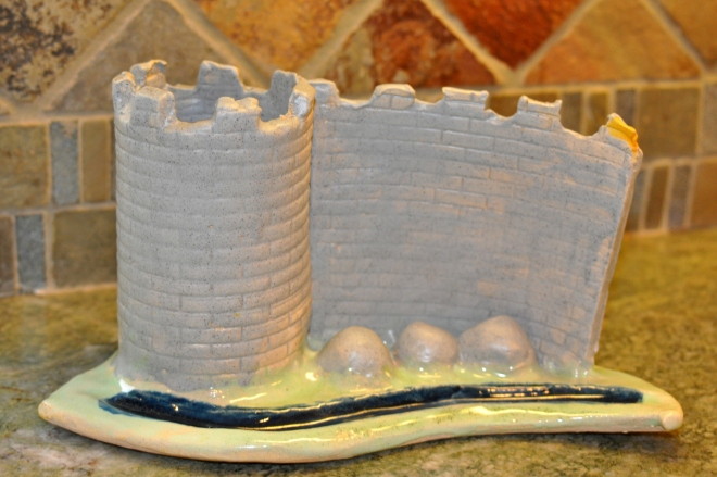 Ceramic Clay Medieval Turret