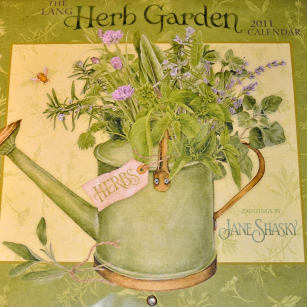 The Lang Herb Garden Calendar, painted by Jane Shasky