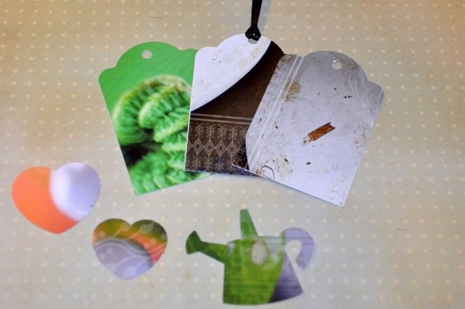 Assorted gift tags and labels