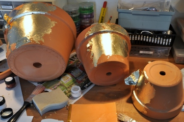 Clay Pots and Gold Leaf
