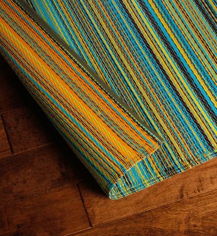striped garden mat