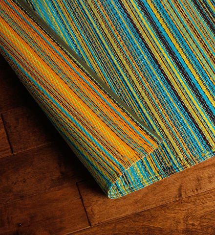 striped garden mat