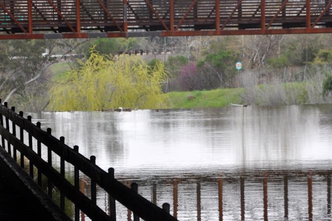 Approaching the foot bridge