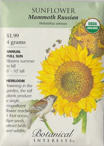 sunflower packet
