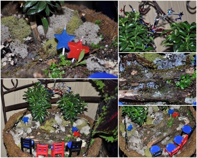 4th of july fairy garden