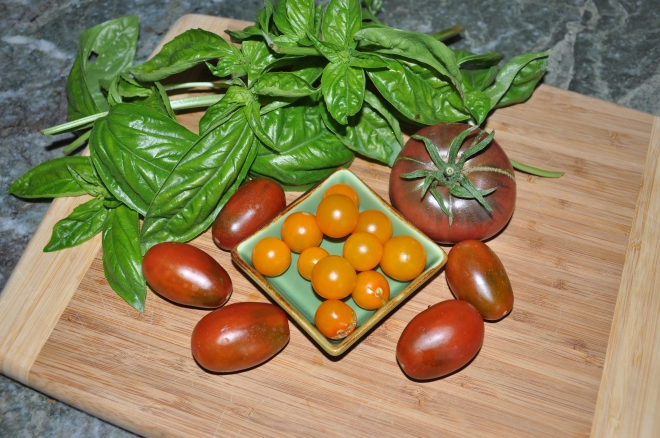 tomatoes, basil