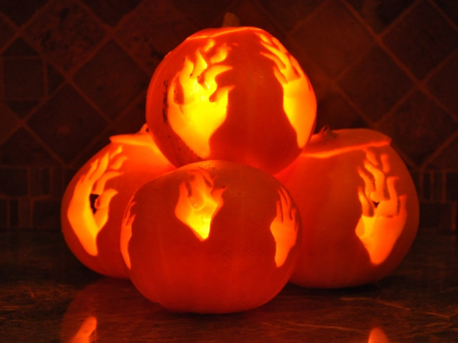 Pumpkin campfire