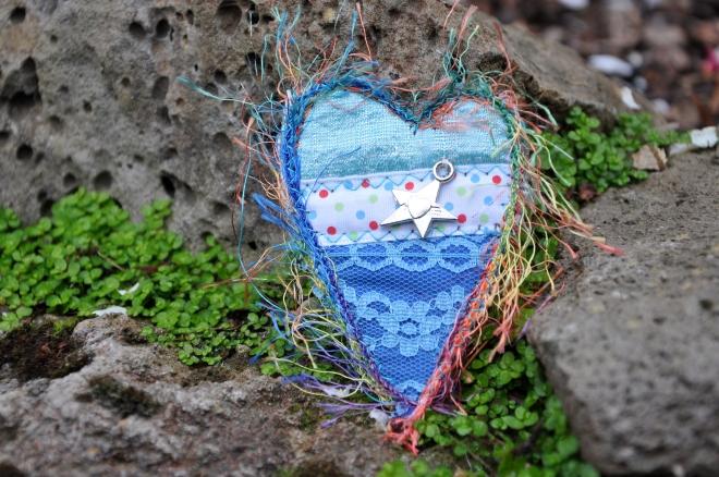 Stars and hearts pin