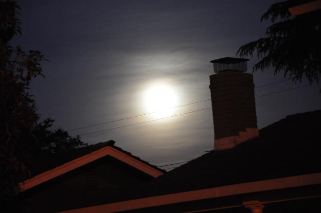 Full moon, 9:09 pm
