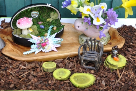 easter fairy garden