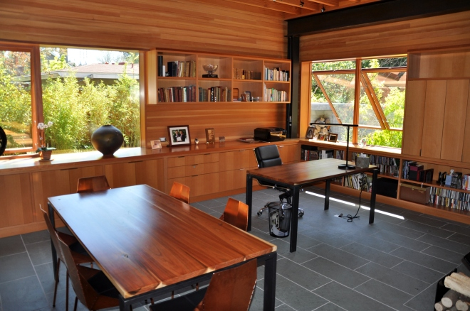 office and dining area