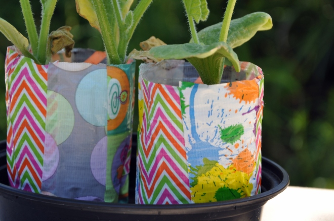 Duct Tape Planting Pots