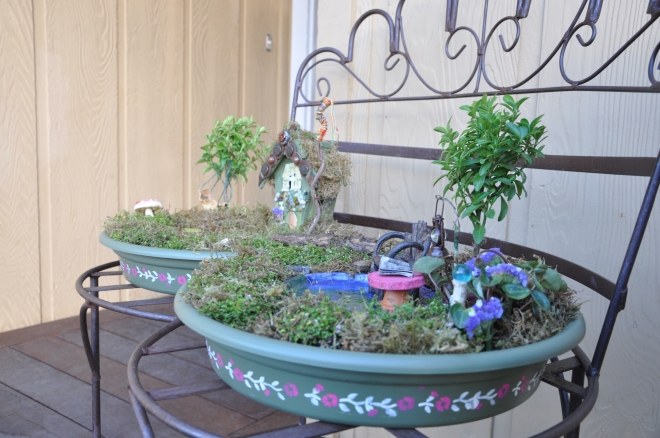 patio fairy garden
