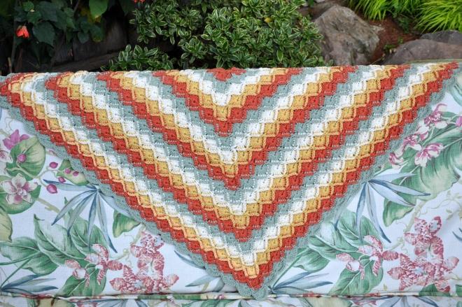 Bavarian Crochet Knee Rug