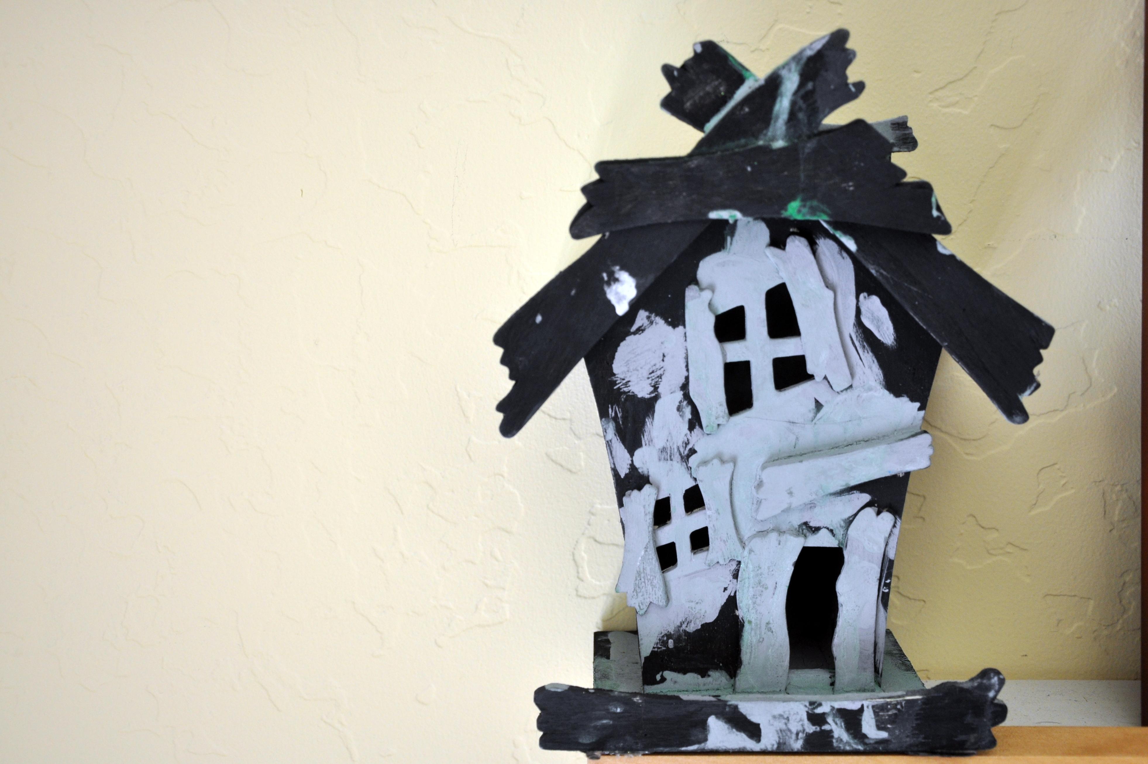 Halloween Wood Cutouts Haunted House