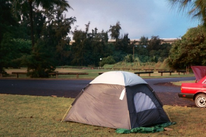 tent in hawaii