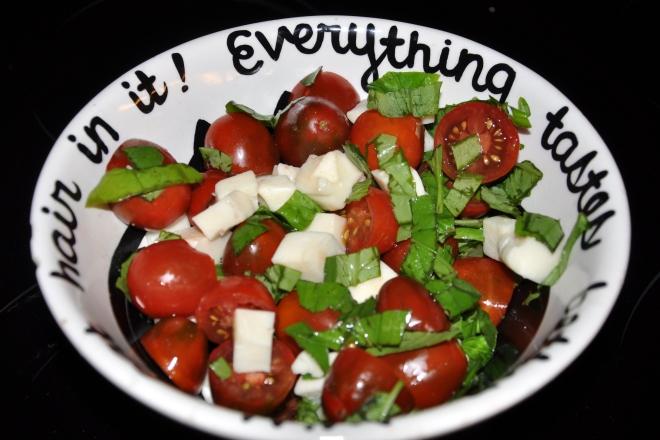 tomato mozzarella basil salad