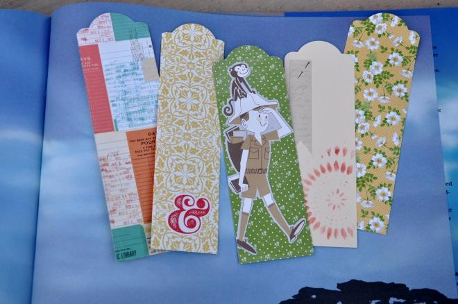 paper scrap bookmarks