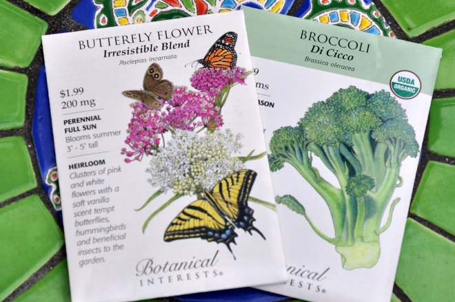 Butterfly Flower and Broccoli