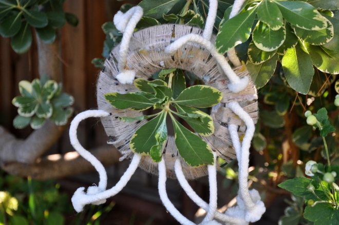 squirrel nesting wreath