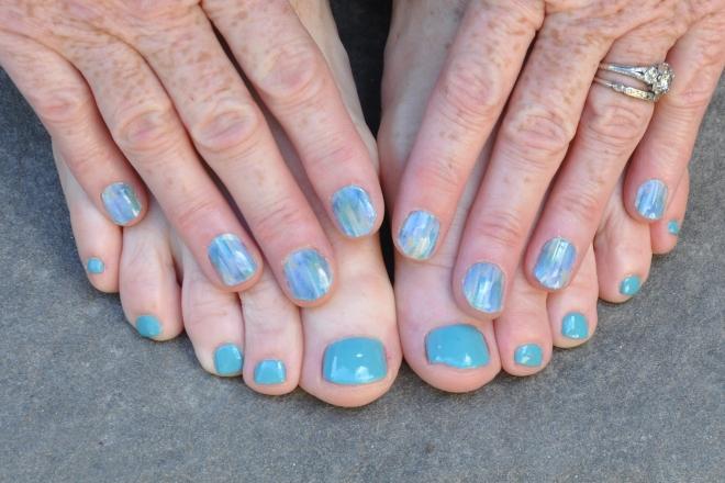 aqua manicure and pedicure