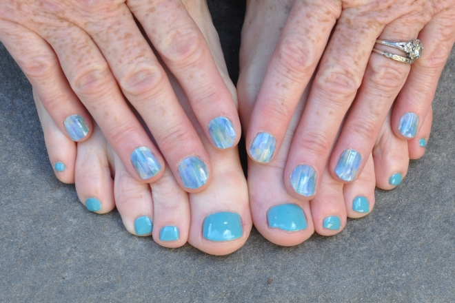 aqua manicure and pedicure