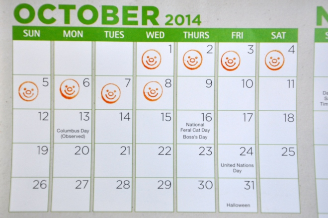 candy countdown calendar
