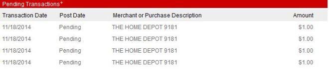 target home depot screen capture