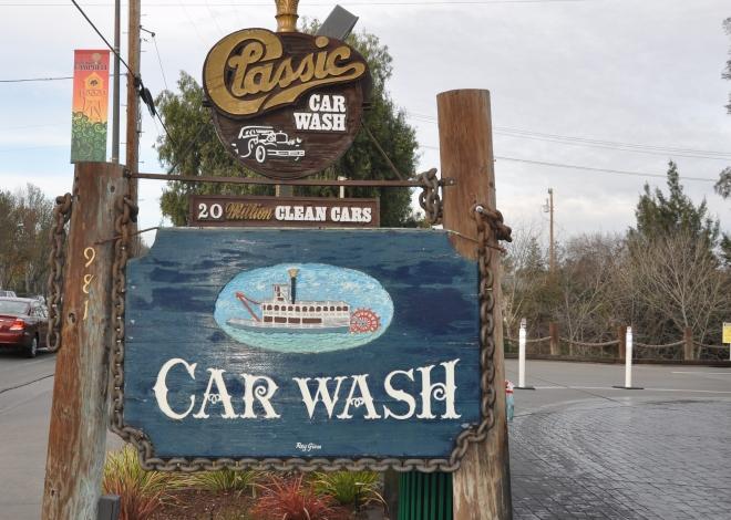 Delta Queen car wash sign