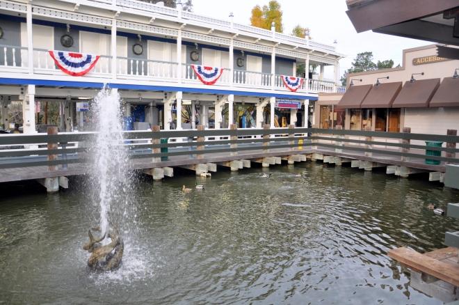 Delta Queen pond and ducks closeup