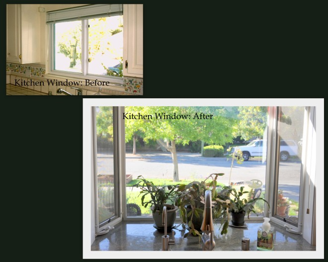 kitchen window before and after