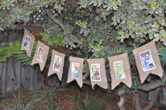 burlap bunting finished