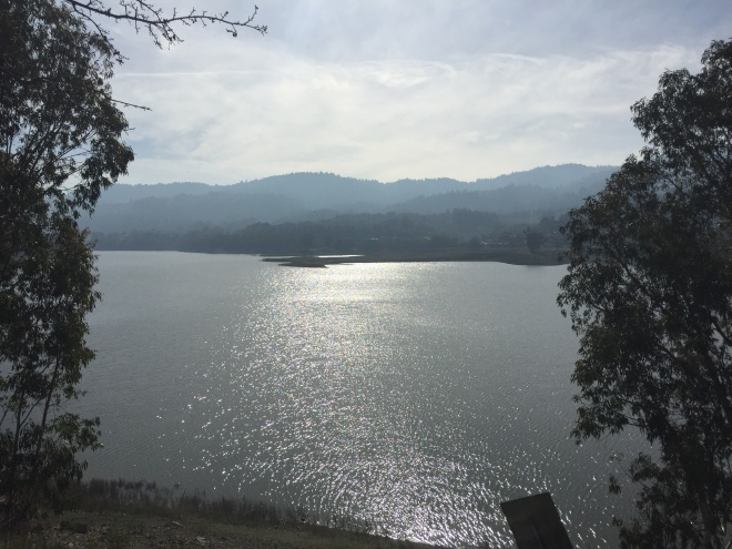 lexington reservoir and santa cruz mountains