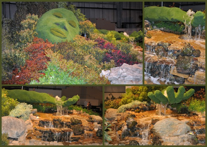 2015 garden show waterfall