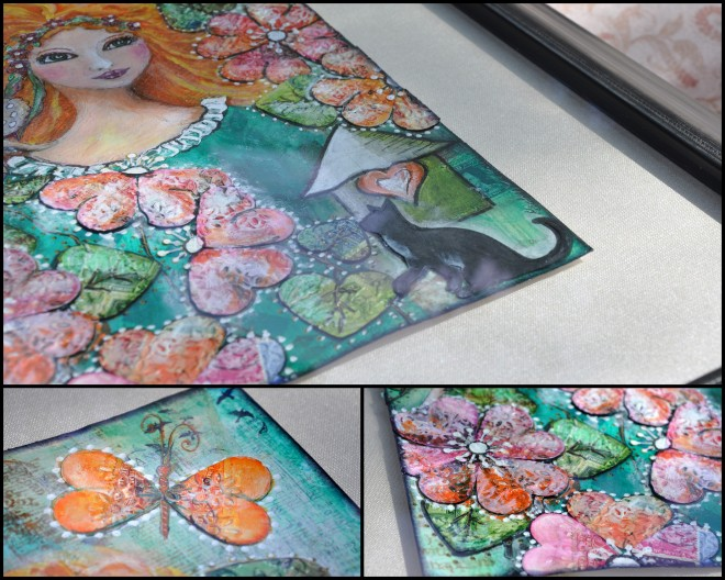 Pauline King mixed media stamps
